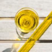 Visuel-huile dans un verre